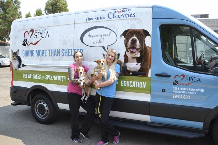 Staff Members Emily & Palina on a recent trip to the City of Sacramento Animal Shelter